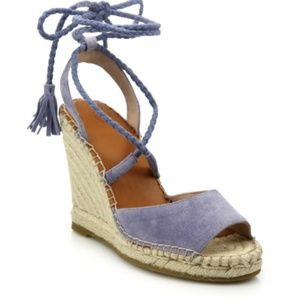 Joie Phyllis Suede Lace Up Wedges